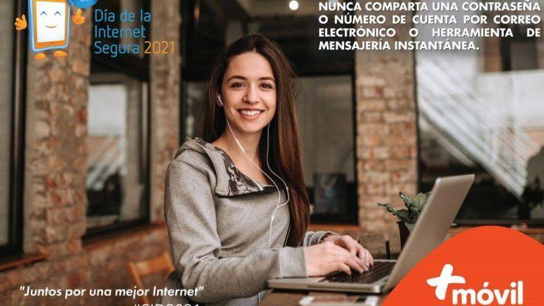 +Móvil enfocado en trabajar por un mejor internet para las nuevas generaciones