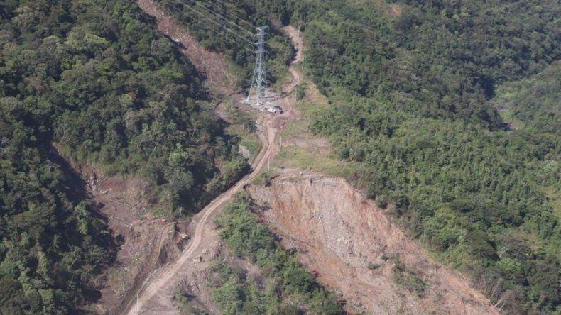 Etesa cambia torre ubicada en Fortuna,  provincia de Chiriquí, afectada por huracán Eta