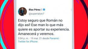 Blas Pérez sale en defensa de Román Torres tras declaraciones del DT de Panamá
