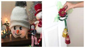 Decora tu hogar con manualidades fáciles y prácticas para Navidad