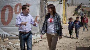 Samantha Cameron visita a los refugiados sirios en el Líbano
