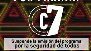 Suspendemos emisiones de Calle 7 Panamá
