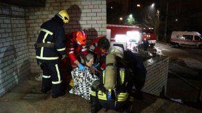 Cuatro muertos en el incendio de una unidad covid de un hospital en Ucrania
