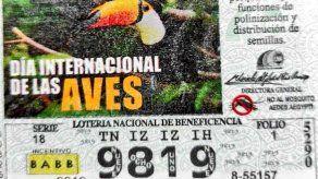 En los billetes y chances de este domingo 9 de mayo, resaltan la fecha del día internacional de las aves.