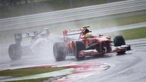 Lluvia afecta ensayos para el GP Británico de F1