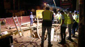 Continúan los trabajos de soldadura en tubería de Vía Brasil
