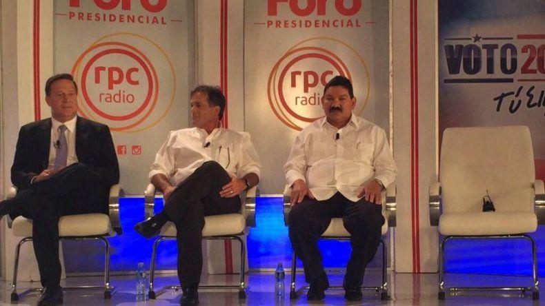 Varela, Navarro y López en primer Foro presidencial, JD Arias el ausente