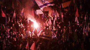 Israelíes protestan contra Netanyahu en Jerusalén