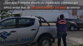 Desarticulan en Brasil organización que envió 50 toneladas de drogas a Europa