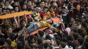 Un muerto y 800 heridos en aglomeración procesión Nazareno Negro en Manila