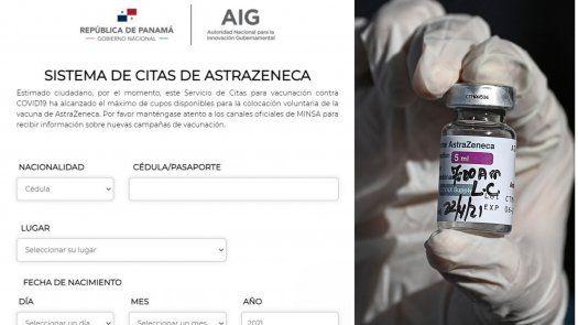 Formulario para el registro de voluntarios para recibir la vacuna contra COVID-19 de AstraZeneca.
