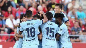El Atlético gana 2-0 al Mallorca y se pone líder provisional