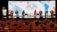El rey Felipe VI ofrece un discurso durante el XIII Encuentro Empresarial Iberoamericano, que tiene lugar en Andorra este martes, en el marco de la XXVII Cumbre Iberoamericana.