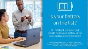 HP retira baterías de computadora por riesgo de incendio