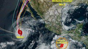 Rosa se convierte en depresión tropical sobre Península de Baja California