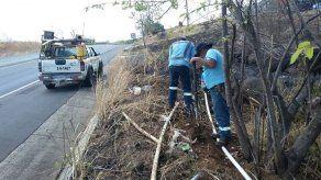 Quemas descontroladas provocan en Veraguas daños en postes eléctricos y tuberías del Idaan