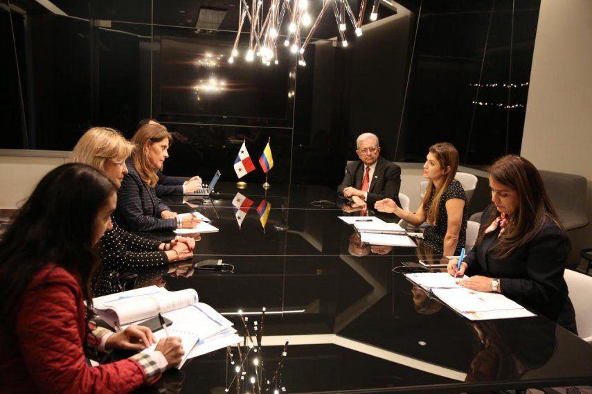 Las ministras de Relaciones Exteriores de Panamá y Colombia