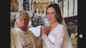 ¿Qué hace Dafne Fernández vestida de novia y dentro de una iglesia?