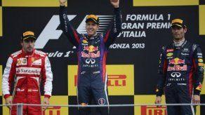 Victoria de Vettel delante de Alonso y Webber en Monza