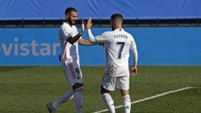 Hazard anota en goleada 4-1 del Real Madrid a Huesca