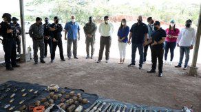 Ministerio de Seguridad destruye explosivos en Cerro Tigre
