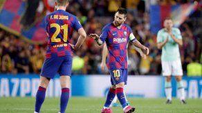 Messi niega problemas en el Barcelona tras victoria frente al Inter
