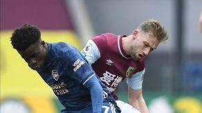 Burnley rescata empate de 1-1 ante Arsenal en la Premier