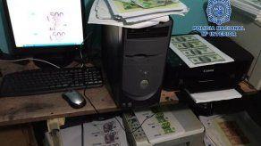 Policía Nacional desmantela en Bogotá una imprenta que producía euros falsos