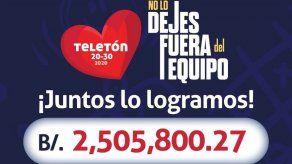 Teletón 20-30 2020 recaudó B/.2.5 millones
