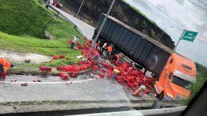 ENA cierra la salida del Corredor Norte a la altura de San Isidro por incidente con mula