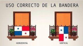 Forma correcta de colocar la Bandera de Panamá