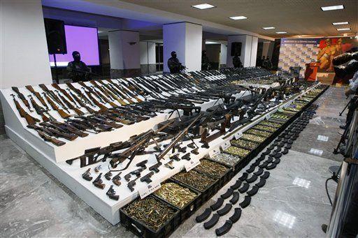 Decomisan mayor arsenal a narcos en la historia de México