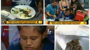 Polémica en Perú por reto de comer cucarachas para viajar a Cancún