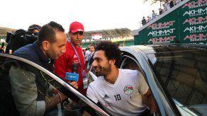 Salah no se entrena en la primera práctica de Egipto en Grozny
