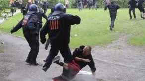 Activistas protestan en el primer día del G20