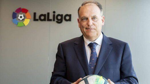 Javier Tebas, presidente de la Liga Española se declara sobre la Superliga.