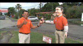 Artesano se inspira en Luis Casís para confeccionar muñeco de Año Nuevo
