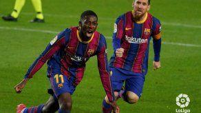 Dembélé deja al Barcelona a un punto del Atlético de Madrid