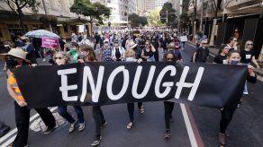 Australianas marchan para pedir justicia para las mujeres