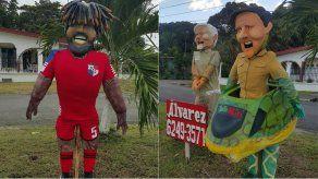Muñeco de Año Viejo de Román Torres será quemado con Martinelli y Varela