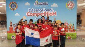Estudiantes panameños logran 9 trofeos en Mundial de Cálculo Mental de Rusia