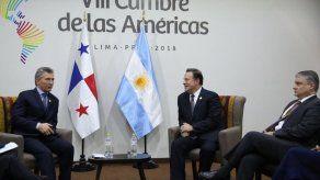 Presidentes de Panamá y Argentina  dialogan sobre Venezuela y rutas aéreas
