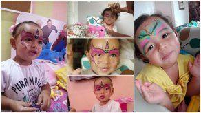 Jugar a pintarse la cara con los niños en casa