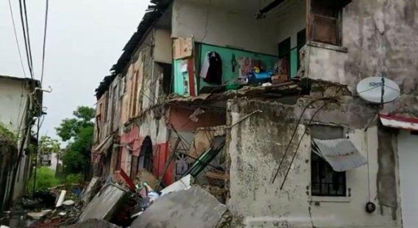 Reportan que familias damnificadas tras el desplome de parte del caserón 7033 en calle 5 Avenida Central y Meléndez