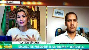 Áñez y Guaidó hablan del nombramiento de embajadores de Bolivia y Venezuela