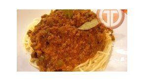Spaghetti con Carne Molida