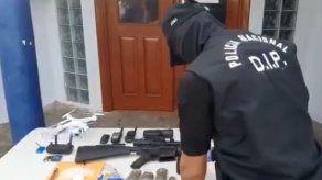Policía Nacional decomisa armas de grueso calibre y detiene a una persona en Puerto Caimito