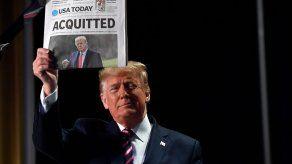 Trump celebra su absolución y avisa de que su movimiento acaba de empezar