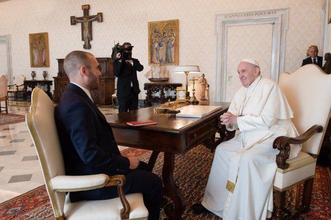 El papa Francisco recibió en audiencia privada al ministro argentino de Economía