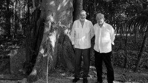 El empresario Carlos Slim y el presidente mexicano Andrés Manuel López Obrador.